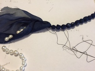 手作り 布くるみネックレス