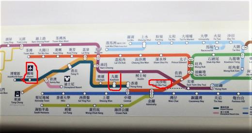 AELとMTR 路線図