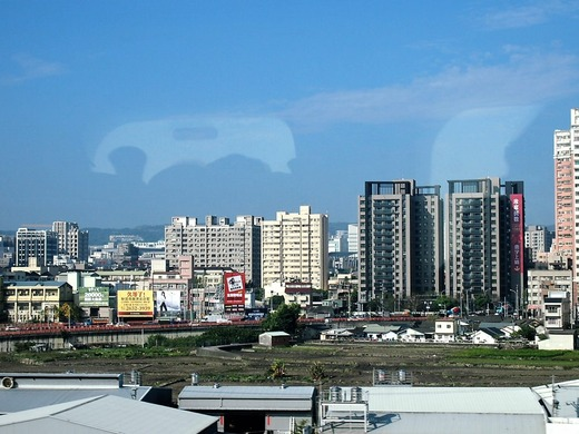 新幹線から見る台中市内
