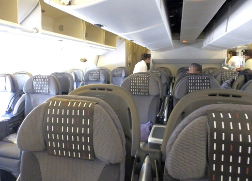JAL31便機内