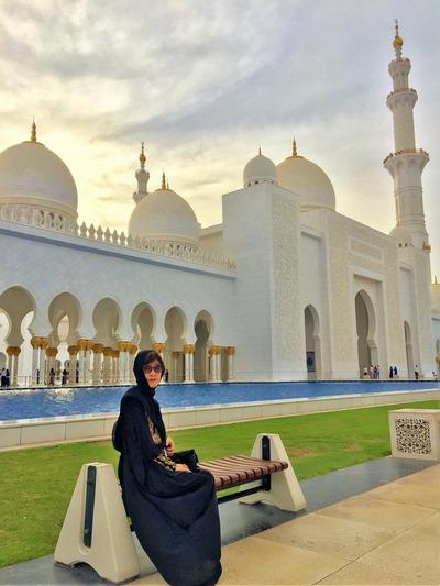 アブダビ モスクにて