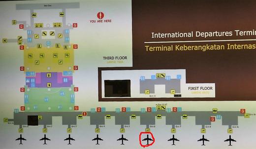 バリ空港、搭乗口6