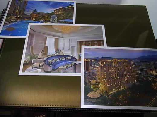 ホテルの絵はがき