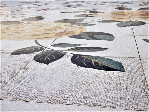 床の大理石の模様