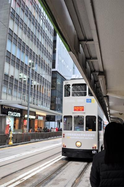 香港島 トラムに乗る