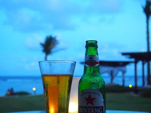夕暮れのビンタンビール