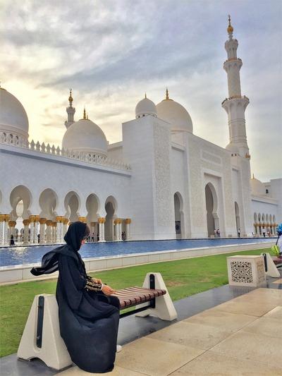 夕方のモスク
