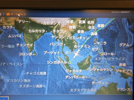 機内 地図