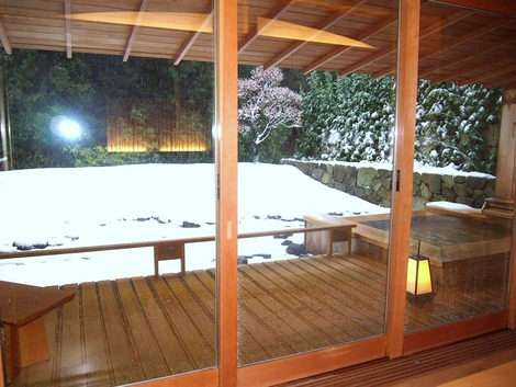2月 雪の赤沢迎賓館