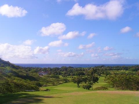 海を望むゴルフ場