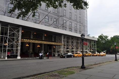 プラザホテルは改装中