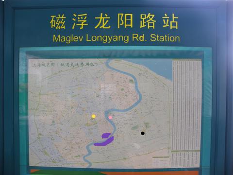 マグレブ龍陽路駅地図