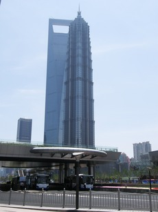 朝の上海ヒルズ