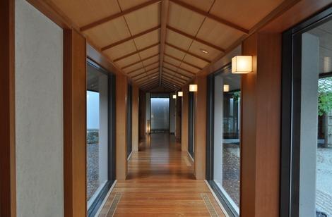 印象的な廊下