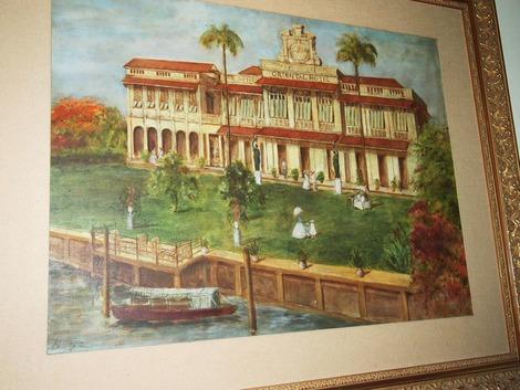 昔の本館の絵