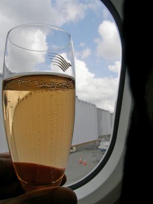 ウエルカムドリンク シャンパン