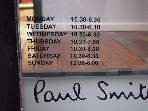 ポールスミスセールショップの時間