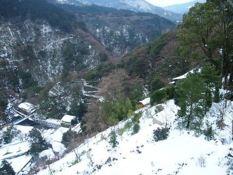 雪景色が見えます
