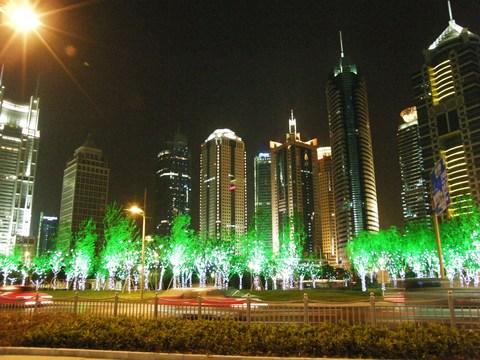 ライトアップの浦東