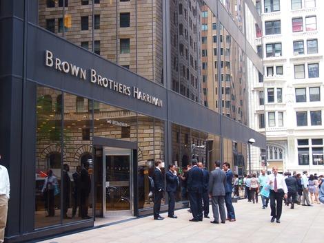 世界の金融の中心地のビジネスマン