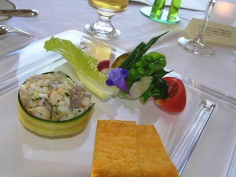 魚介のタルタルと夏野菜