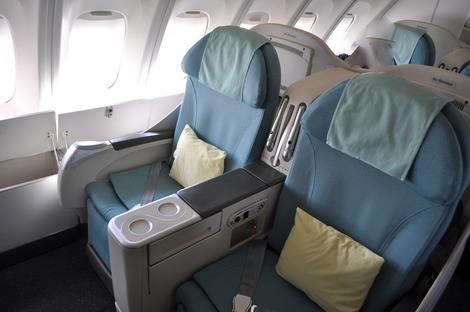 大韓航空 ビジネスクラスシート