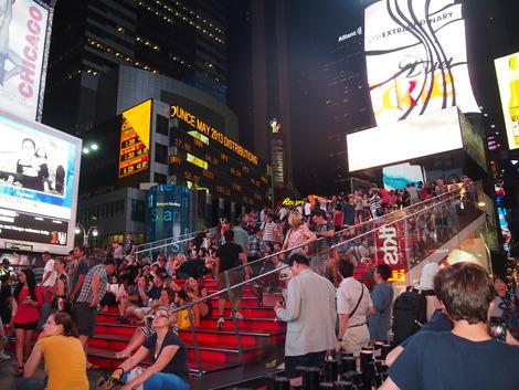 タイムズスクエア名物階段