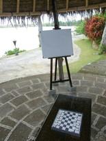 絵を書いたりチェスをしたり