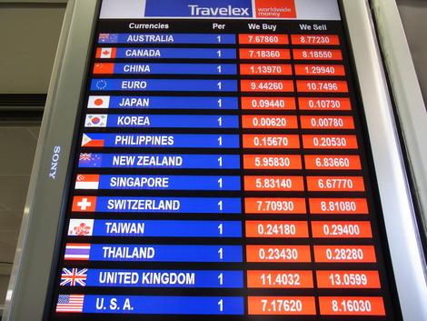 香港、空港 トラべレックス両替