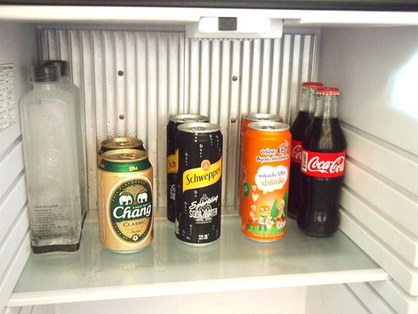 無料の冷蔵庫内
