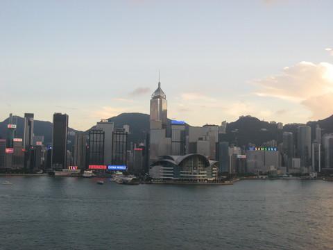 インターコンチネンタルホテルから見る香港