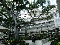 お庭から見るホテル本館