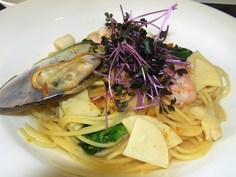 メイン選択 春野菜魚介からすみパスタ