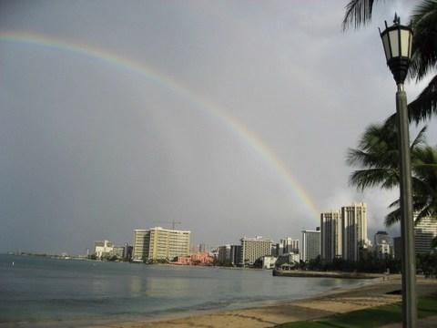 友人からのハワイの写真