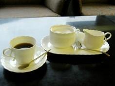ラウンジでのコーヒーサービス