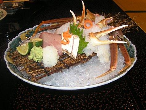 蟹あらい 鰤お刺身