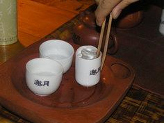 お茶の入れ方を習いました