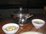 魚介の卵スープ