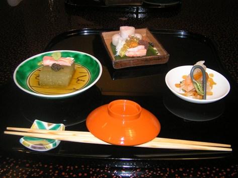 生蟹懐石コース 前菜