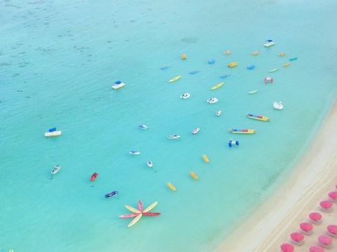 グアム島 ホテルからの海
