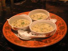 竹の子と若布のクリームスープ