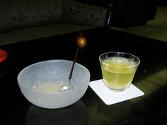 冷茶と柚子ゼリー(無料)