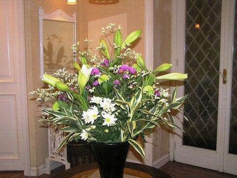 アルベルゴバンブー ロビーのお花