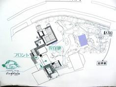 楽々荘敷地図