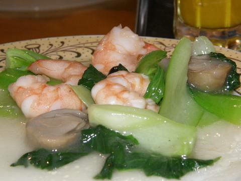 えびと青菜の炒め物