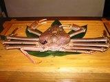 なぜか大きな蟹が…
