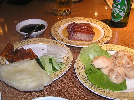 炭火焼焼豚 北京ダック エビマヨ