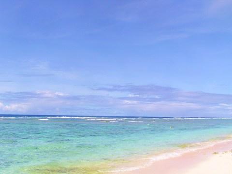 徐々に雲も取れて綺麗な海