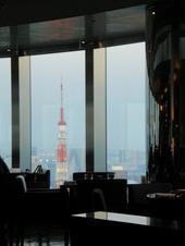 控え室から見る東京タワー