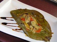 鮮魚バナナの葉包み